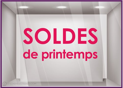 Sticker Soldes de Printemps