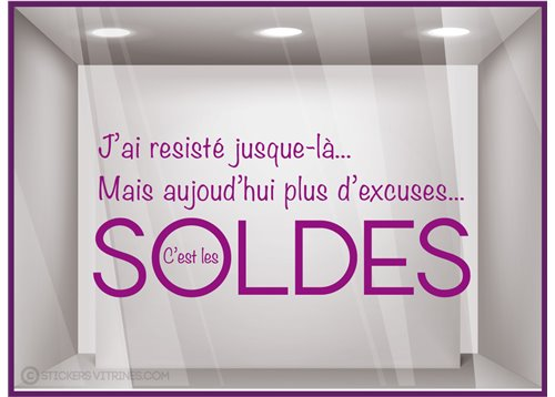 Sticker Soldes Plus d'Excuses
