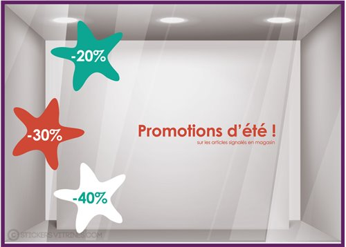 Kit de Stickers Promotions Etoiles de Mer