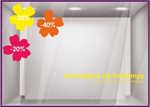 Kit de Stickers Promotions de Printemps