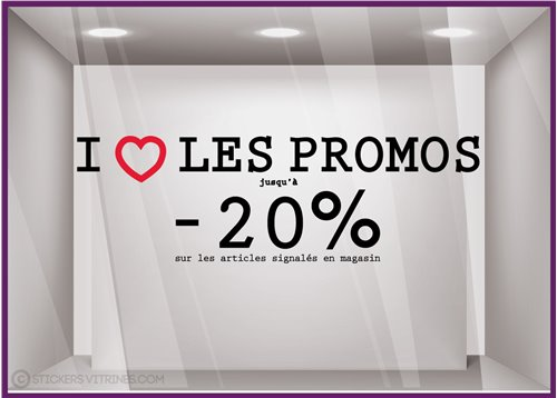 Sticker I Love les Promos