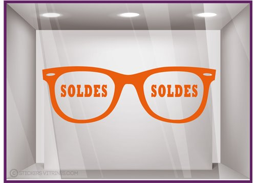 Sticker Soldes Opticien