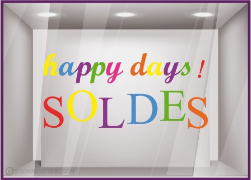 Sticker Soldes Happy Days