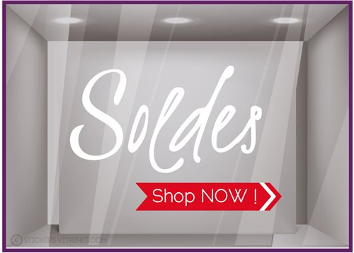 Sticker Soldes Shop Now