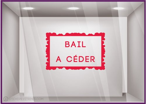 Sticker Bail A Céder