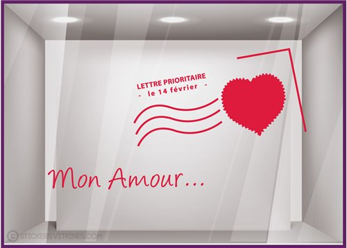 Kit de Stickers Carte Postale Saint Valentin