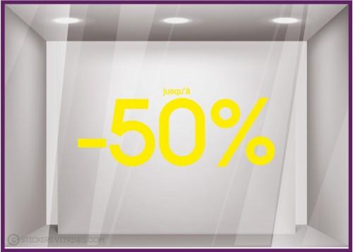 Sticker Jusqu'à -50%