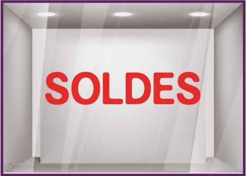 Sticker Soldes Simple