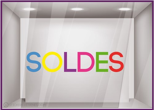 Sticker Soldes Multicolore