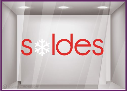 Stickers Soldes Flocons