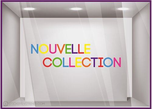 Sticker Nouvelle Collection Multicolore