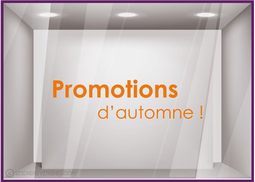 Sticker Promotions d'Automne devanture idee decoration commerce boutique adhesif