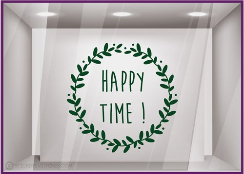 Sticker Couronne Happy Time