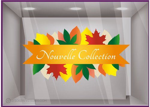 Sticker Feuilles bandeau Nouvelle Collection