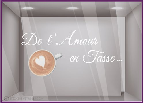 Sticker de l'Amour en Tasse
