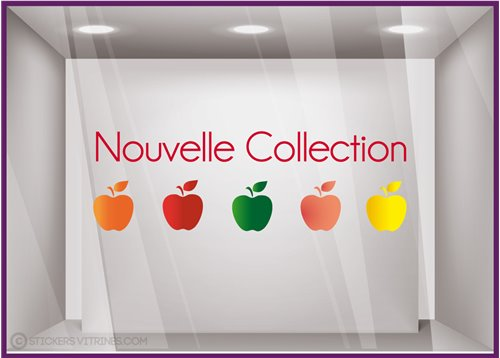Sticker Nouvelle Collection Pommes