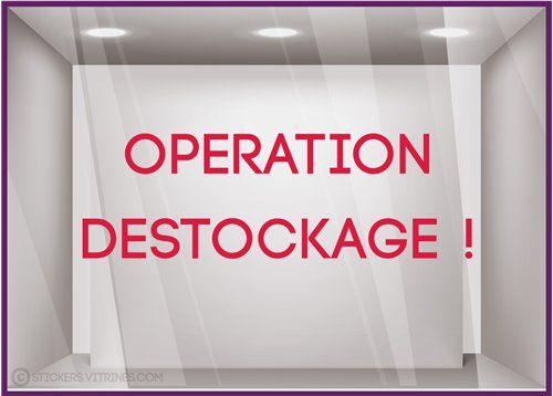 Sticker Lettrage Opération Destockage