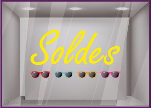 Sticker Soldes Lunettes de soleil