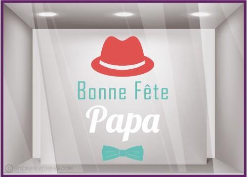 Sticker Chapeau Bonne Fête Papa