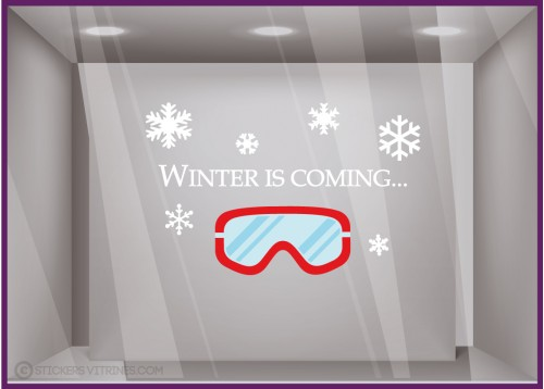 Sticker Winter Is Coming vitrophanie pour devanture de commerce