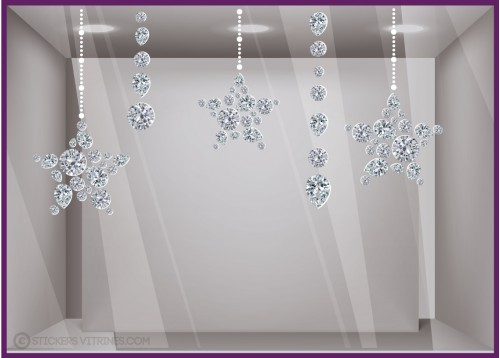 Kit de Stickers Etoiles Diamants