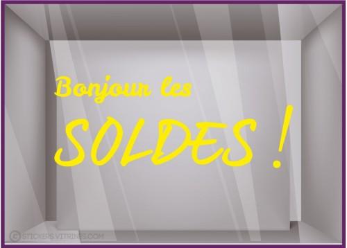 Sticker Bonjour Les Soldes