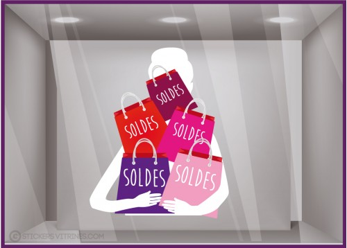 Sticker Silhouette Soldes Sacs