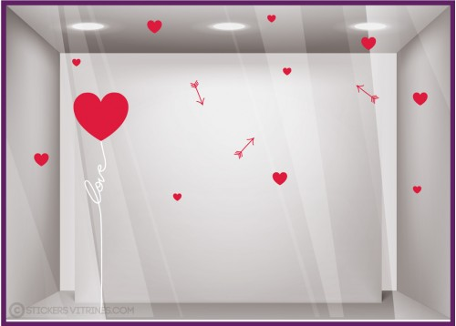 Kit de stickers Ballon Love Saint-Valentin