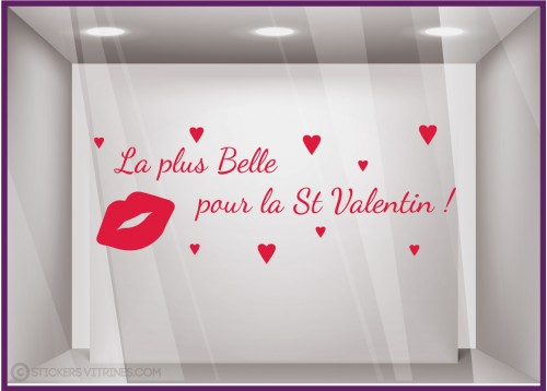 Sticker La plus belle pour la Saint-Valentin