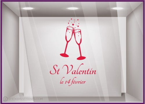 Sticker Coupes Saint-Valentin
