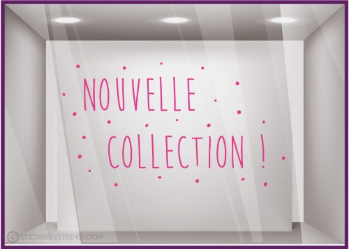 Sticker Nouvelle Collection petits points