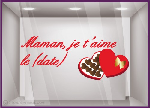 Sticker Chocolats Maman je t'aime