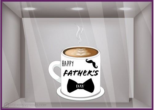 Sticker Tasse Happy Father's day