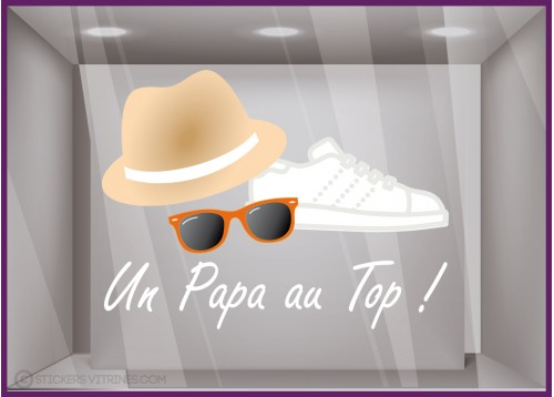 Sticker un Papa au top