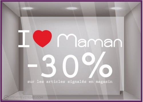 Sticker Promo I love maman