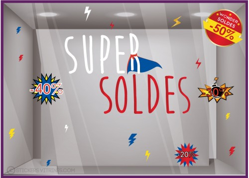 Kit de Stickers Super Soldes