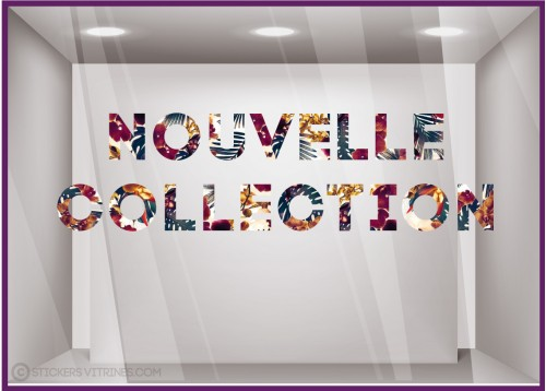 Sticker motif Floral Nouvelle Collection