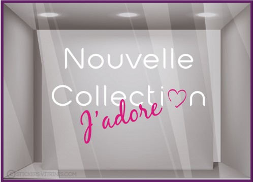 Sticker J'adore la Nouvelle Collection