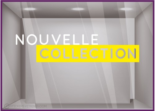 STICKER NOUVELLE COLLECTION DECOUPE