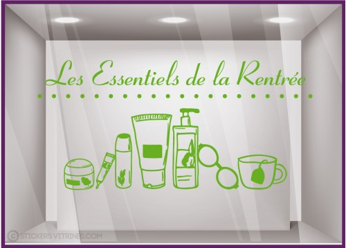 STICKER LES ESSENTIELS DE LA RENTREE PHARMACIE