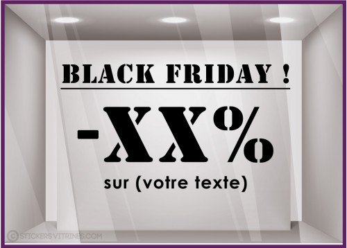 Sticker texte Black Friday à personnaliser