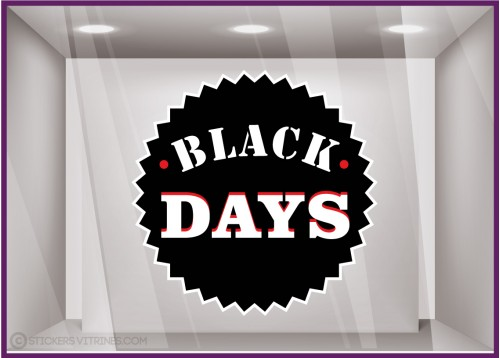 Stickers Badge Black Friday