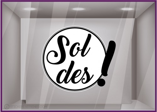 Stickers Soldes Rond Point d'Exclamation