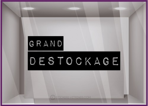 Sticker Grand Destockage