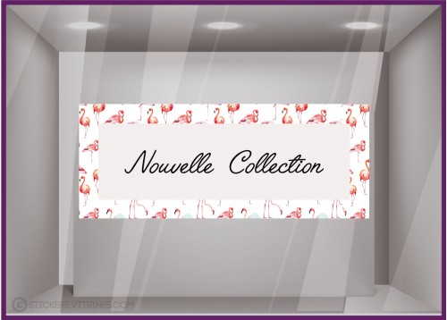 Sticker Bandeau Nouvelle collection Flamant Rose