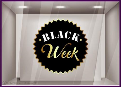 Sticker Badge Black Week