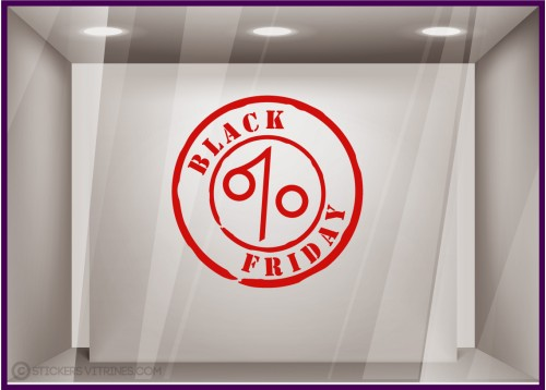 Sticker Black Friday TAMPON PROMOTION VITRINE MAGASIN MODE