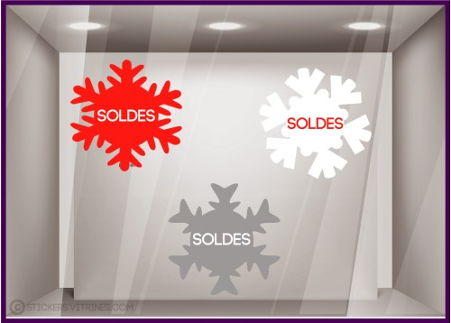 Kit 3 Stickers Flocons Soldes