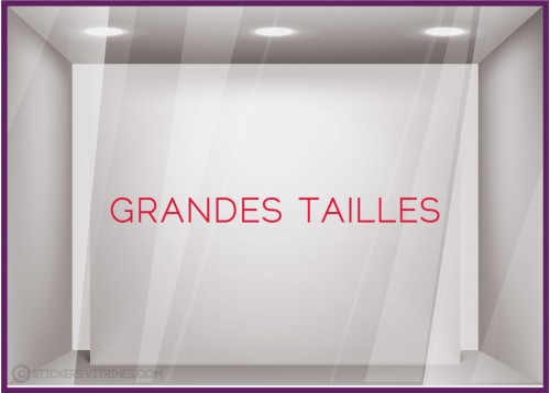 STICKER GRANDES TAILLES MAGASIN PRET-A-PORTER MODE SIGNALETIQUE LETTRAGE ADHESIF CALICOT