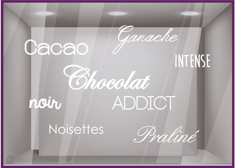 Sticker Chocolat Addict oeufs Pâques Praliné Cloches Cacao